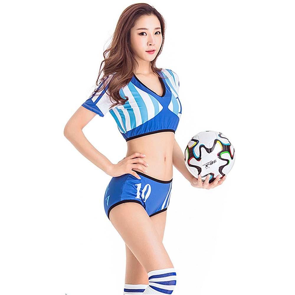 Tomori 2018チアリーディングコスチュームFootball Baby UniformサッカーファンTシャツ B07D7WW6JV