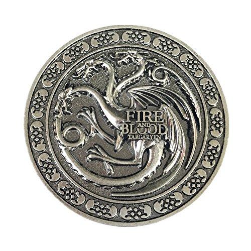 Vintage House Targaryen Dragon Belt Buckle Fire And Blood