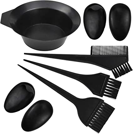 Jinlaili 6PCS Kit de Herramientas para Coloración, Kit de Tinte para el Cabello, Tinte de Peluquería, Tazón, Cepillos, Profesional Kit de Color de ...