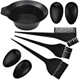 5Pcs Hair Colouring Tools Hair Dyeing Tool Set Brush Double-Sided Coloring Comb Ear Cover and Bowl Set Kit DIY Salon