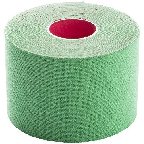 1 Rolle | Premium Kinesiologie Tape (5 cm x 5 m) | Farbe GRÜN | für alle kinesiologischen Tapes und für alle Sport Taping Anleitungen mit elastischem Physio Tape Band - kein Precut Tape | Original BODY TAPE