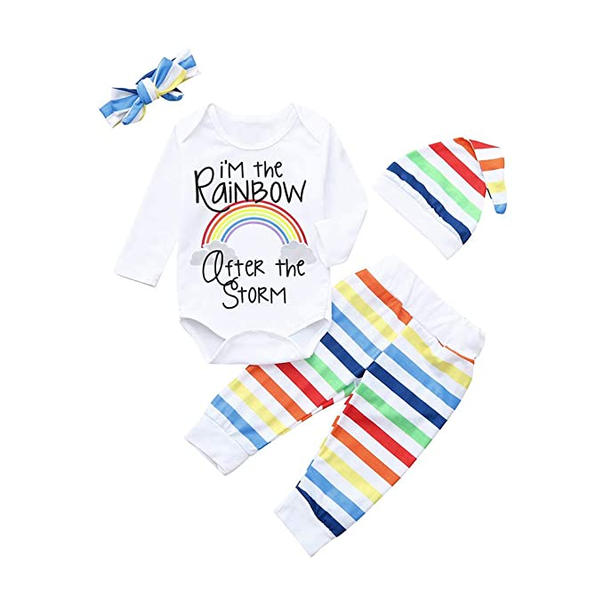 K-youth Conjuntos Bebe Niño Invierno Arcoiris Body Bebe Manga Larga ...