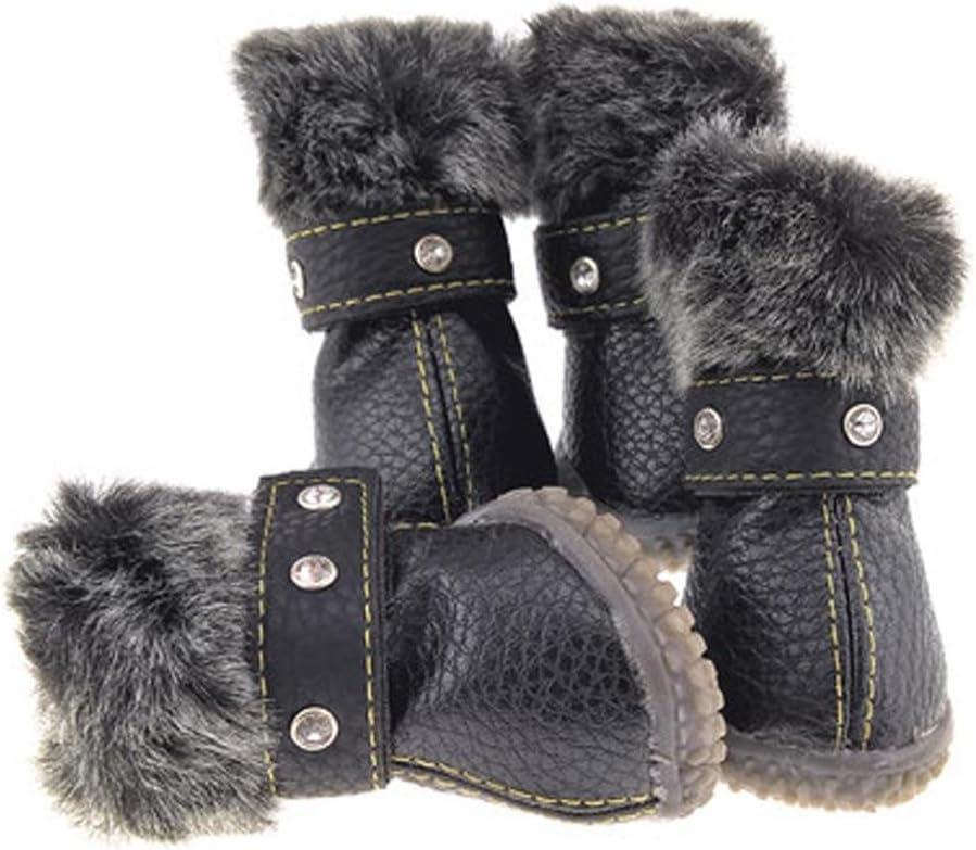wss Dog Collar Warm Shoes PU Anti-slip