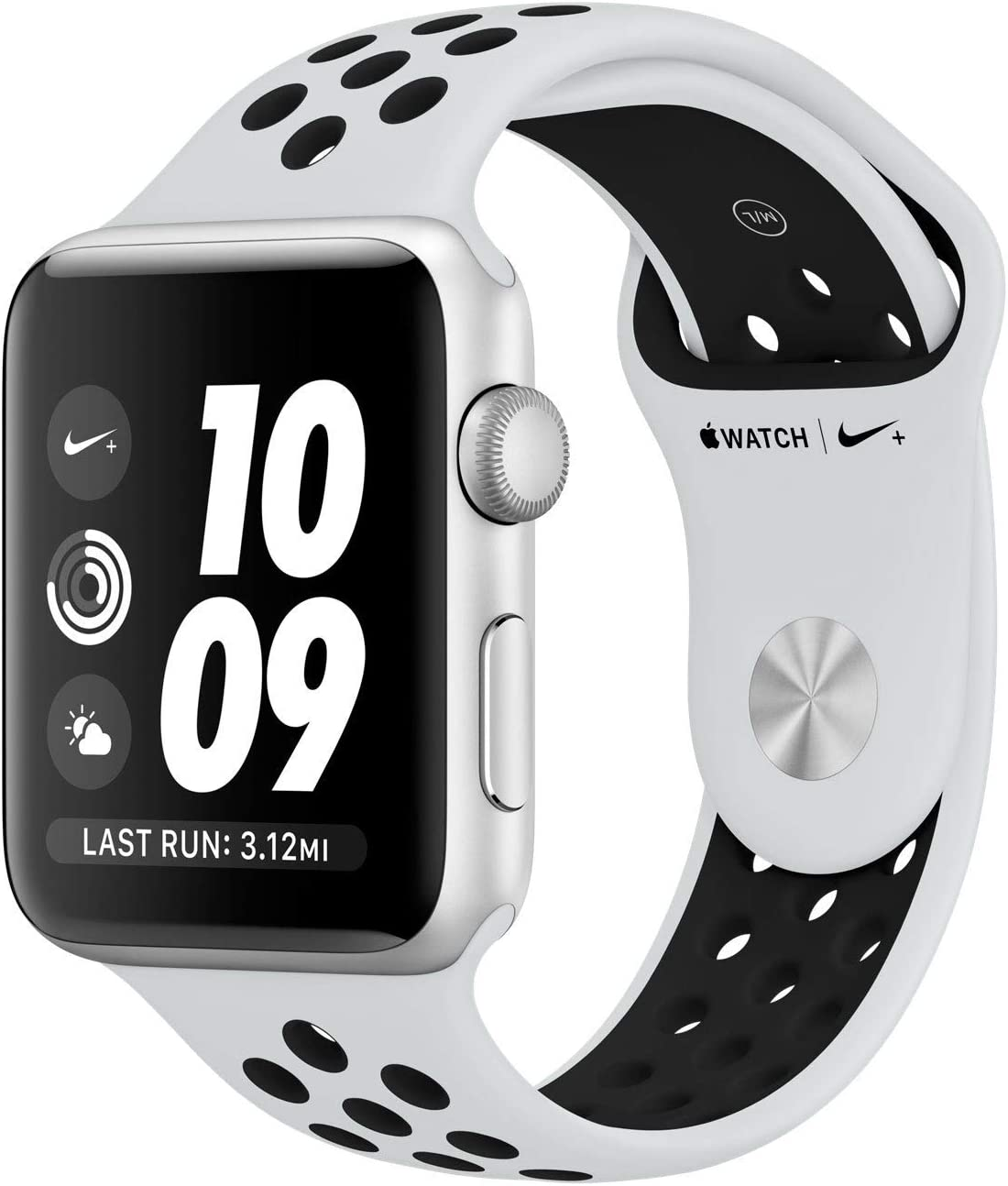 Amazon.com: Apple Watch Nike Series 3 (GPS, 38MM) - Silver Aluminum Case  with Black Sport Band (Renewed)