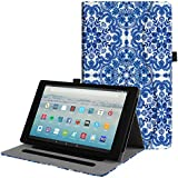Fintie Case for All-New Amazon Fire HD 10 Tablet (7th Generation, 2017 Release) - [Multi-Angle Viewing] Folio Stand Cover with Pocket Auto Wake/Sleep for Fire HD 10.1 Inch Tablet, Cobalt Blue