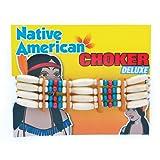 Indian Choker Deluxe Jewellery for Wild West Cowboys Native Fancy Dress Jewellery