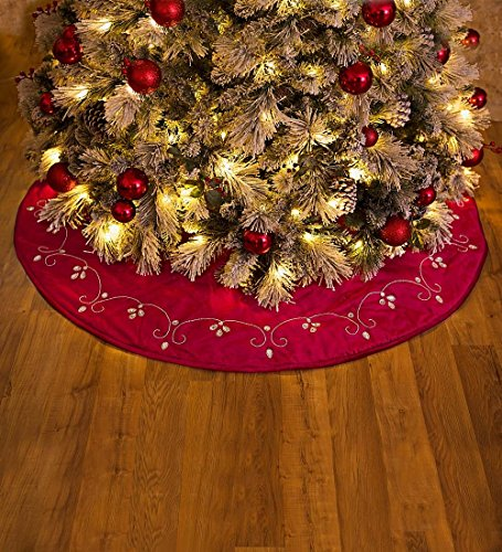 Red Velvet Christmas Tree Skirt