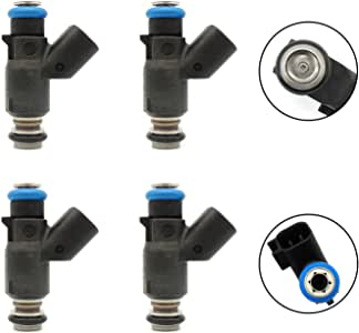 Pack of 4 HiSport Fuel Injector 96487553 Compatible with 06//07//08 Chevy Aveo 1.6L 2006-2007-2008 Replaces 832-11197