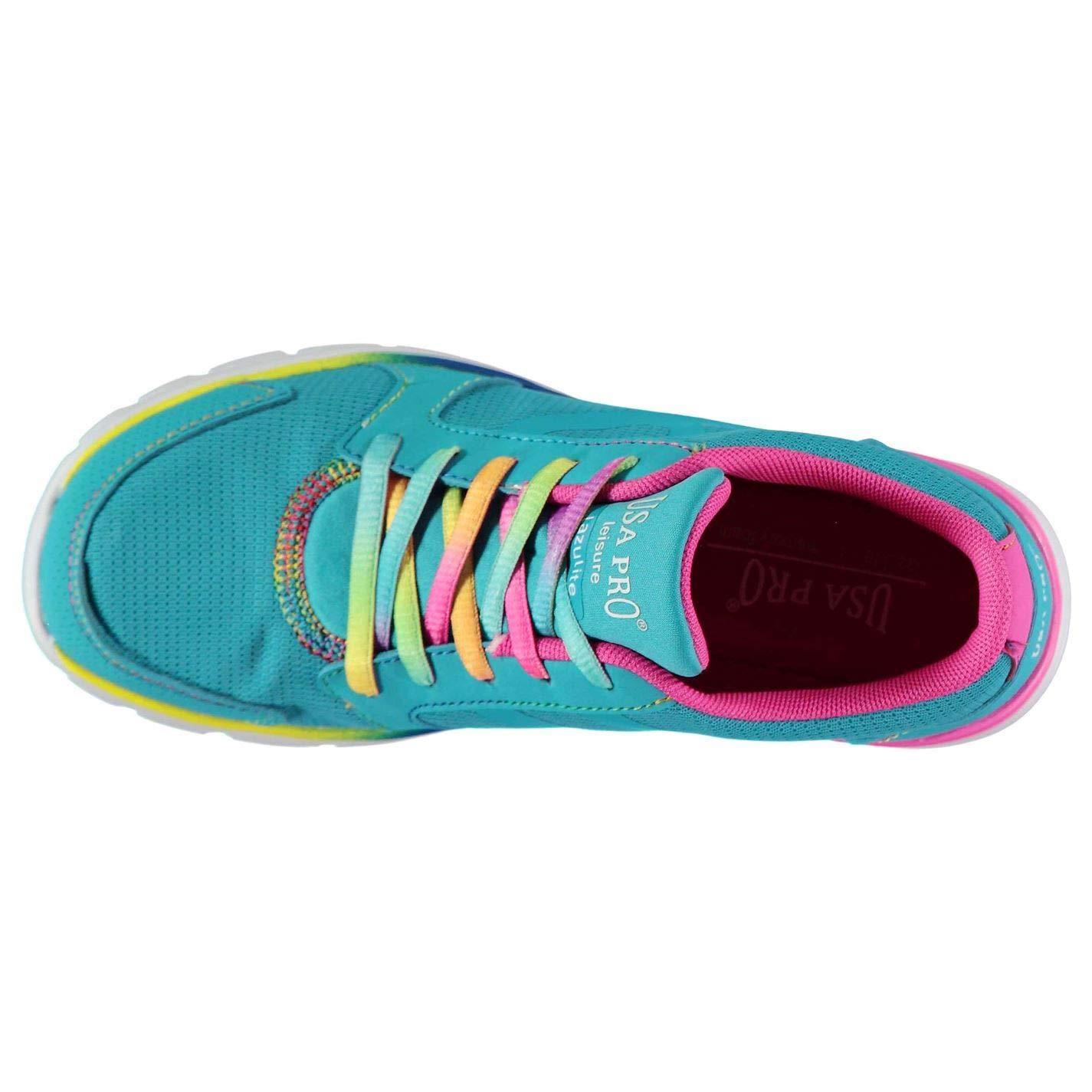 7d805a9390bd5 Amazon.com: USA Pro Lazulite Trainers Girls Blue Shoes Footwear (UK5 ...