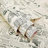 HOYOYO 17x78 Inches Self-Adhesive Shelf Liner, Moisture Proof Drawer Paper Shelf Liner Mildew Proof Antifouling Contact Paper,Newspaper