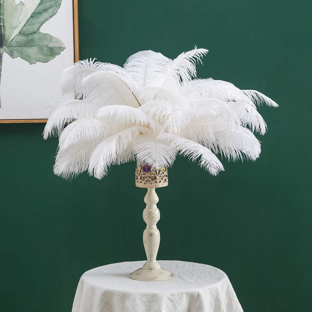 16-18inches (40~45cm) Real Natural Ostrich Feathers Great Home Party Wedding Decoration for Christmas New Year (50)