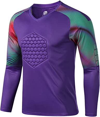 Fútbol Anti Choques Uniforme Portero Camisa Dragón Manga Larga Protector Pecho Soporte Codo (Color : Purple, Size : XXXXL): Amazon.es: Hogar