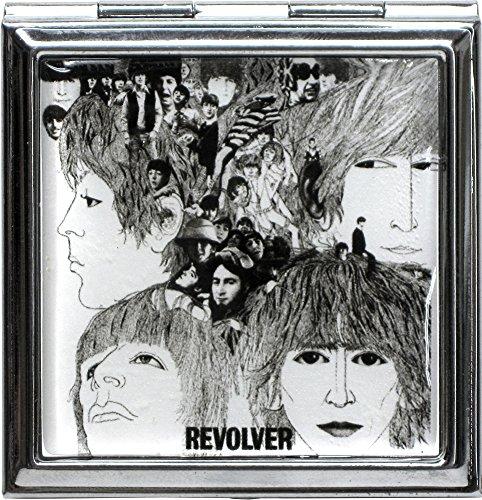 Revolver Album Cover - Beatles Revolver Album Cover Compact Mirror