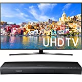 "Samsung 65"" Class KU7000 7-Series 4K UHD TV (UN65KU7000FXZA) with Samsung 3D Wi-Fi 4K Ultra HD Blu-ray Disc Player"