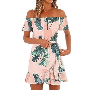 e2c834bd43b8 Btruely Vestidos Mujer Verano, Vestidos Hawaianos para Mujer Fuera ...
