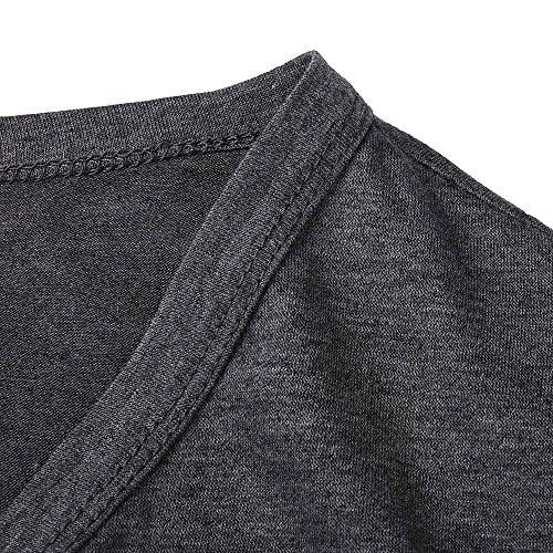 Nouvelle Tenue Printemps 2018 Automne Manches Mode Femme Pure Décontractée Et À Gris Taille Mrulic Pour La Grande Femmes De Foncé Longues Coupe Y5xFx