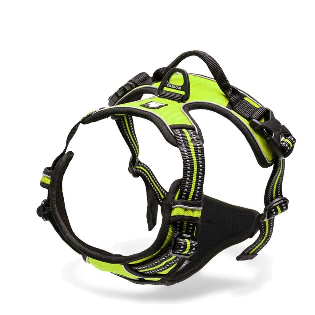 4 S 4 S QIQI-PET Dog Collar Harness Pet Vest Harness Dog Leash Explosion-Proof Pet Supplies (color   4, Size   S)