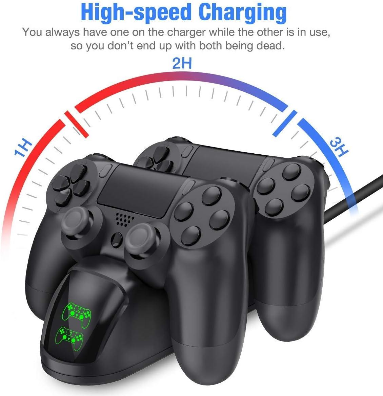 Amazon.com: KONKY Dobe DualShock - Cargador para mando de ...