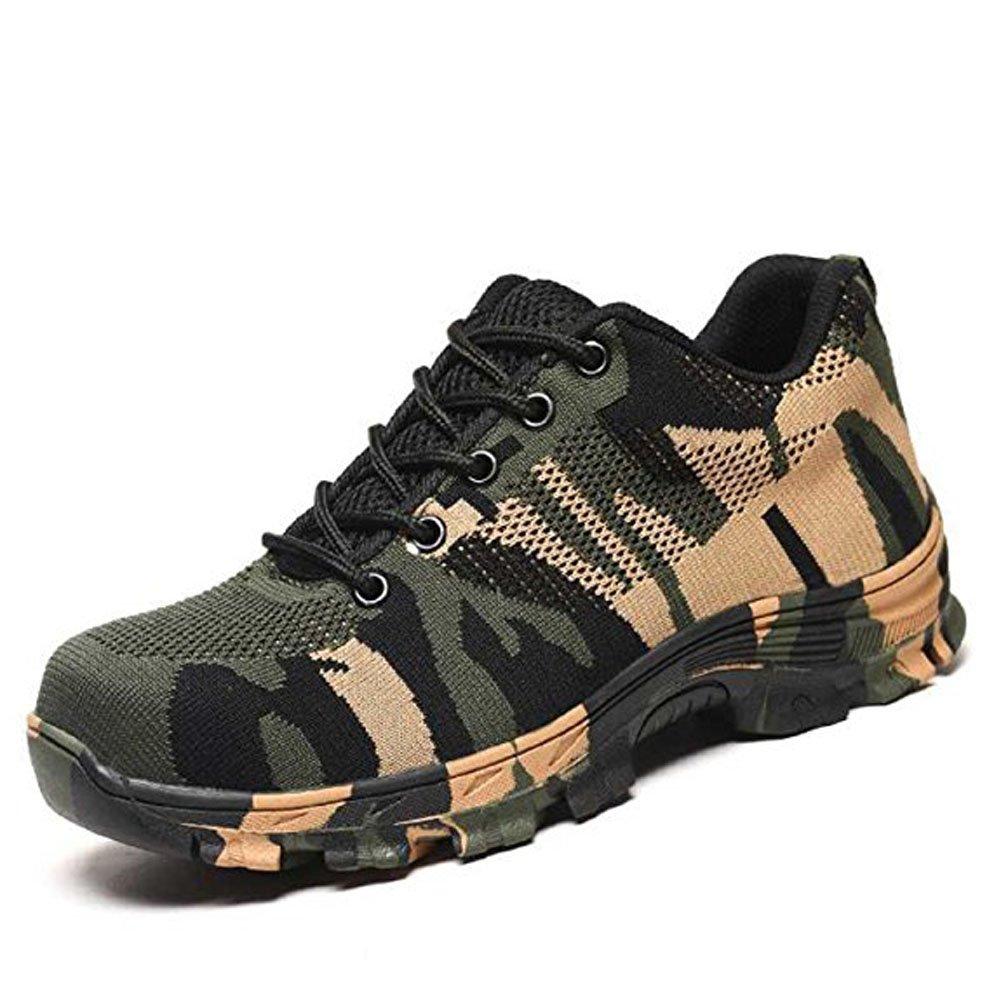 Chaussure de Sécurité Homme Chaussure en Femme Legere Homme Confortable Chaussures de Travail Embout de Protection en Acier Baskets Armée Verte c1d958b - therethere.space