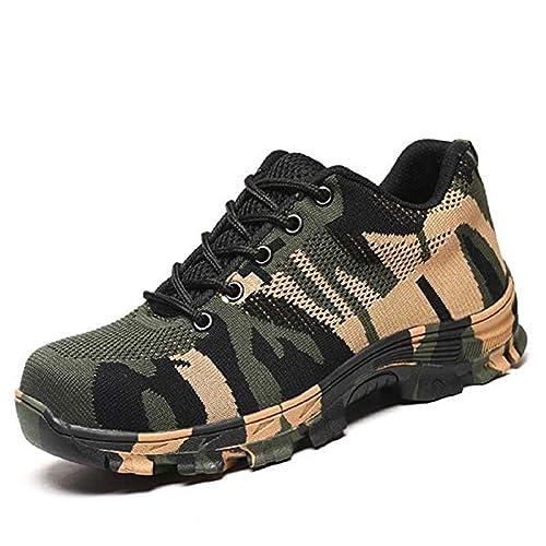 happygo! Scarpe da Lavoro Uomo Donna Scarpe Antinfortunistica con Punta in Acciaio Scarpe Sportive di Sicurezza Unisex