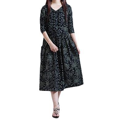 Cotton And Linen Dress For Women Plus Size Folk Custom Loose Long