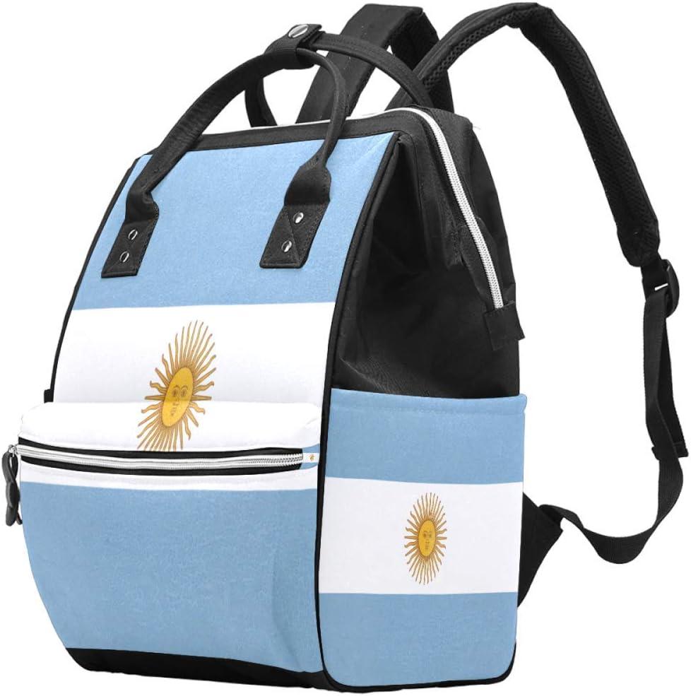 Momia Bolso cambiador Mochila de viaje con bandera de Argentina multifunción impermeable para el cuidado del bebé