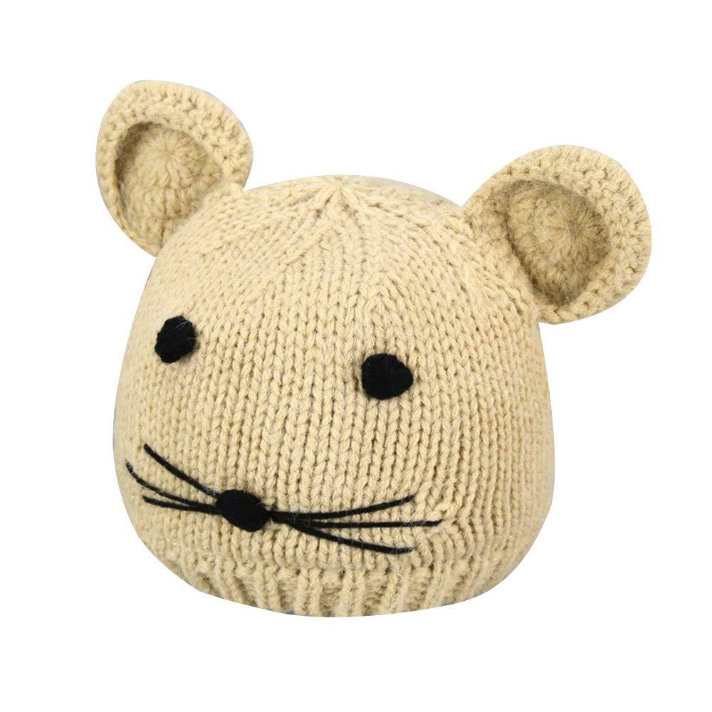 WARMSHOP Kids Baby Fleece Line Knit Hat