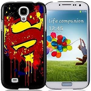 NEW DIY Unique Designed Samsung Galaxy S4 I9500 Phone Case For Paint Splash Superman Logo Phone Case Cover
