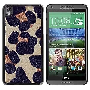 TopCaseStore / la caja del caucho duro de la cubierta de protección de la piel - Fur Animal Nature - HTC DESIRE 816