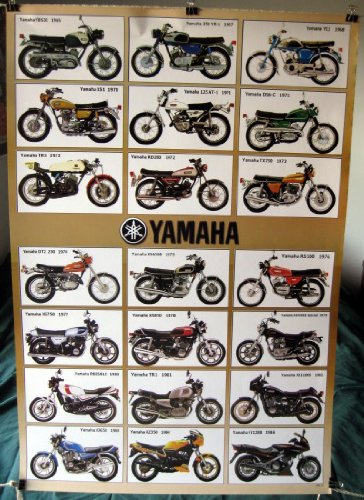 yamaha motorcycle history pictures  Amazon.com: Yamaha motorcycles history POSTER #B 23.5 x 34 with 24 ...