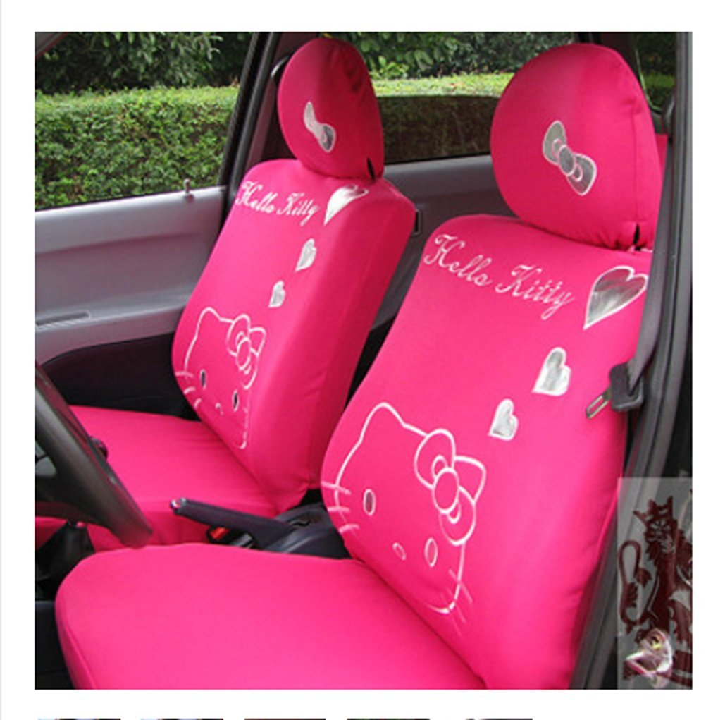 Cartoon Women Lady Five Seats Car Seat Cover 10pcs Auto Car Cushion Front Driver Saddle Seat Cover Car Seat Cushion Supplies (color5) by ww