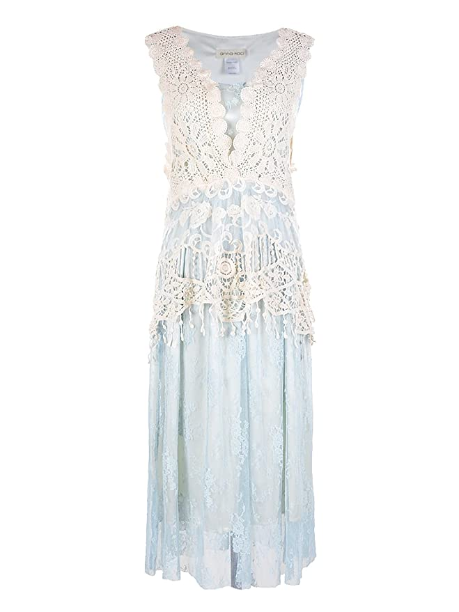 1920s Fashion & Clothing | Roaring 20s Attire Anna-Kaci Womens Vintage Granny Influence Embroidery Detail Lace Ruffle Dress $47.90 AT vintagedancer.com