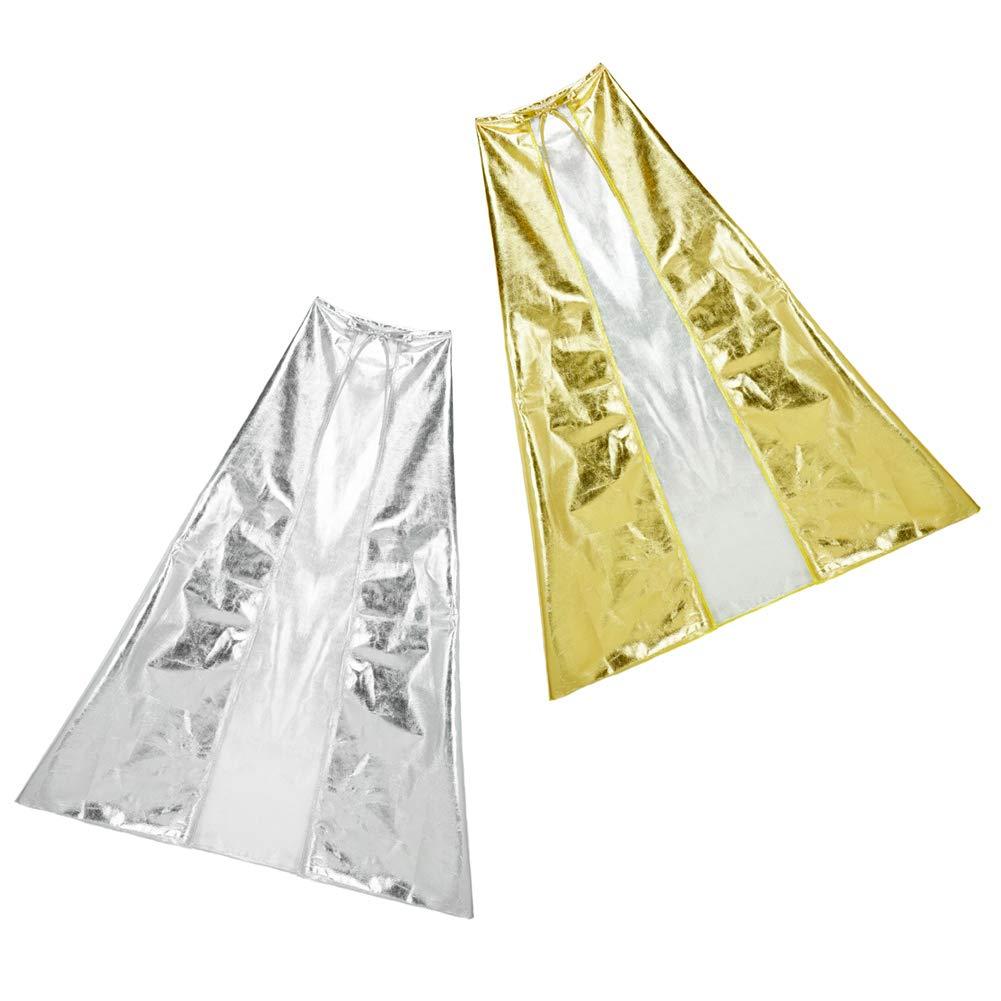 Halloween Cosplay Costume Party SeasonsTrading Shiny Metallic Silver Cape