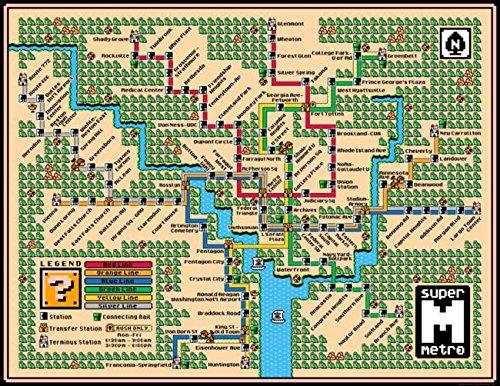 (Imagekind Wall Art Print Entitled Washington Metro Map (2018) by Dave Delisle | 14 x)