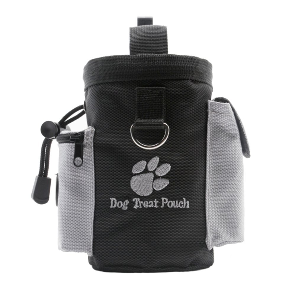 Creation Core Dog Treat Pouch Adjustable Waist Belt Hands Free for Training, Carries Treats and Toys Poop Bag Dispenser Zippered Pockets