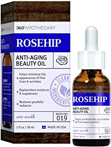 360 Apothecary Anti-Aging Rose Beauty Oil, 1 Fl. Oz