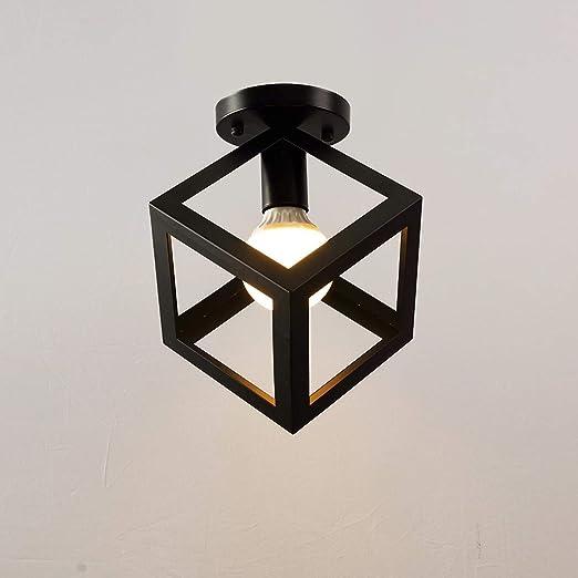 Luz de techo Diseño moderno de cubo con 1 luces E27 Lámpara de ...