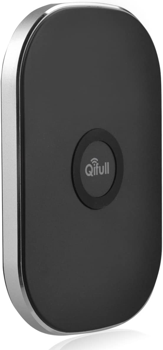 Qifull QT30 3 Coils Qi Wireless Charger Pad for Google Nexus 5 4 7 Nokia Lumia 920820 HTC 8X LG Optimus LTE2 (Black)