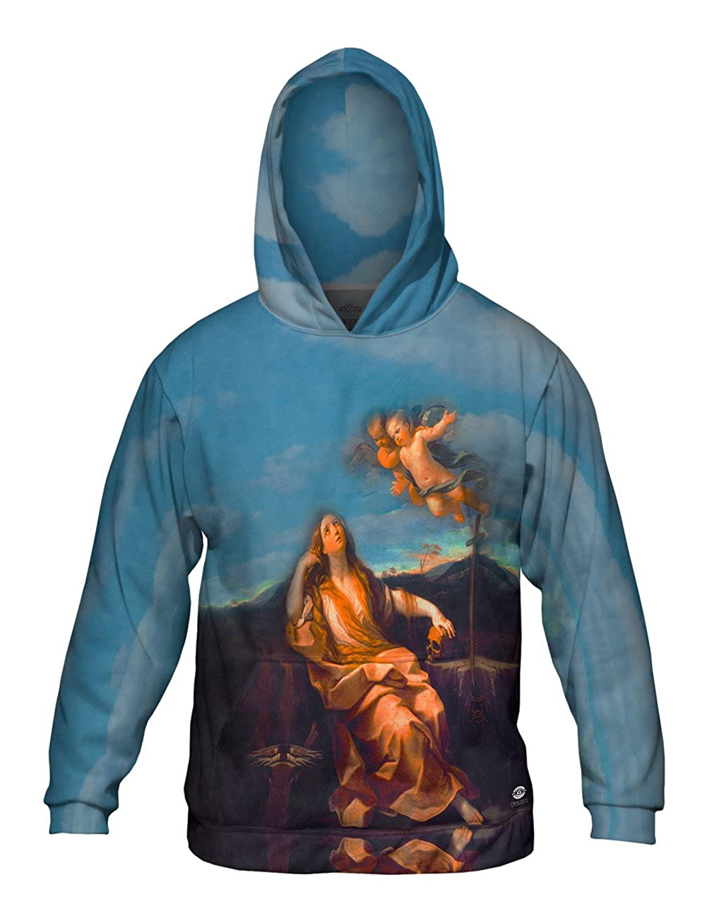 Mens Hoodie 1632 -Allover Print St Mary Magdalene Yizzam- Guido Reni