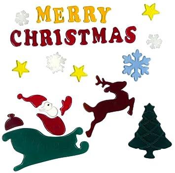 Ist Weihnachten Am 24 Oder 25.Magicgel Fensterbilder Weihnachten Merry Christmas 25 X 24 Cm Fensterdeko Spiegeldeko