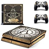 Hambur® Sony PlayStation 4 Skin Decal Sticker Set - Exclusive Assassin's Creed: Syndicate (1 Console Sticker + 2 Controller Stickers)