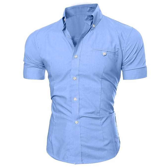 55763ba44c Camiseta Básica Botón O Cuello Workwear Camiseta De Hombre Manga Corta De  Trabajo Camiseta De Manga