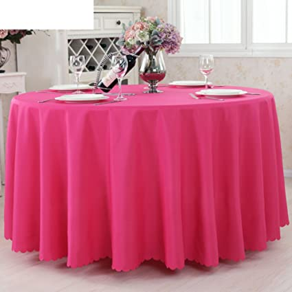 Solid Hotel TableclothThickened Restaurant Round Table Table Cloth - Office desk table cloth