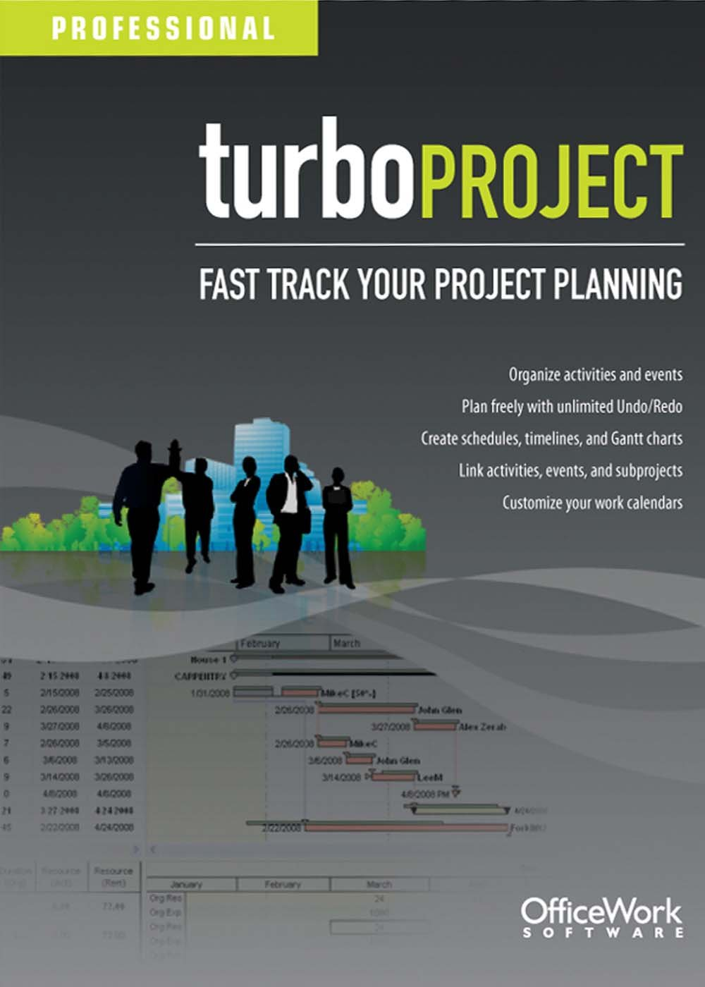 TurboProject Professional  [Download] by OfficeWork Software, LLC