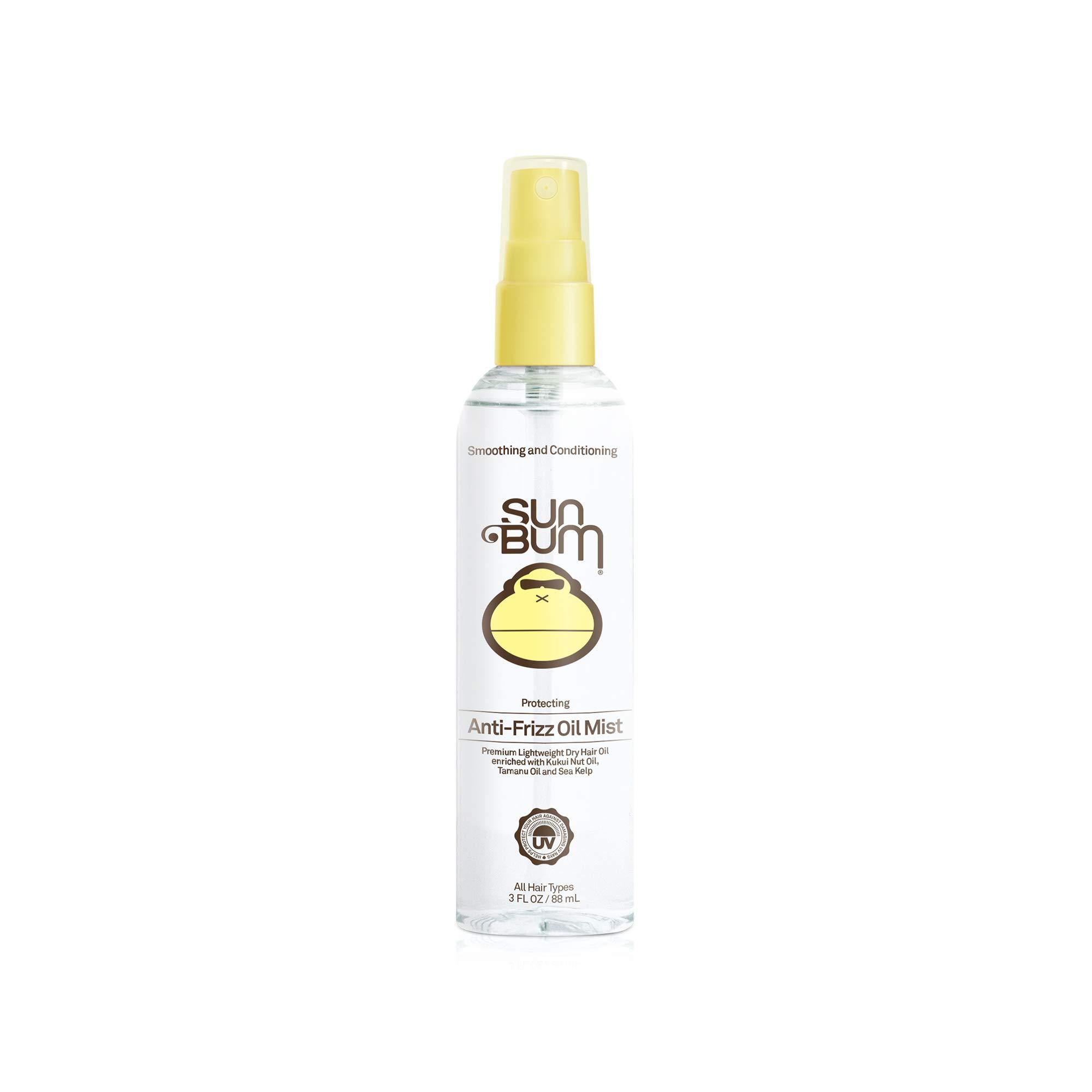 Sun Bum Anti Frizz Oil Mist Spray, Anti Frizz Hair Spray, Humidity Control, Moisturizing, Paraben Free, 3 FL OZ Spray Bottle, 1 Count