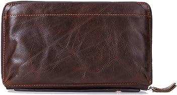 95d5f5e9c Gendi Business Men Wallet Vintage Brown Cowhide Men Clutch Bag 100% Genuine  Leather Clutch Hand