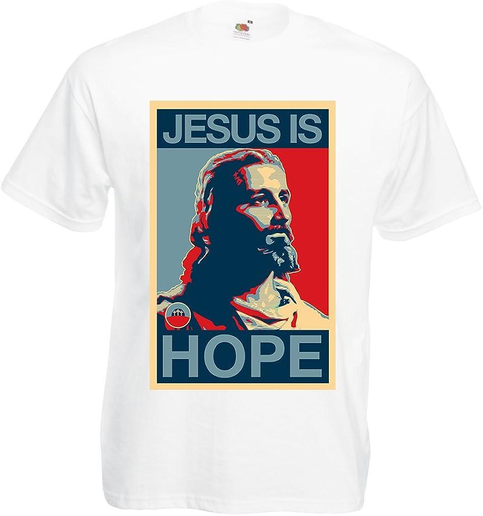 lepni.me Camisetas Hombre ¡Jesús es Esperanza! Religión - Resurrección - Ideas de Regalos Cristianos