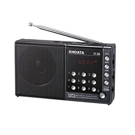 XHDATA® D-38 FM-Stereo / MW / SW / MP3-Player / DSP Vollband Radio D38 (gray): Amazon.es: Electrónica