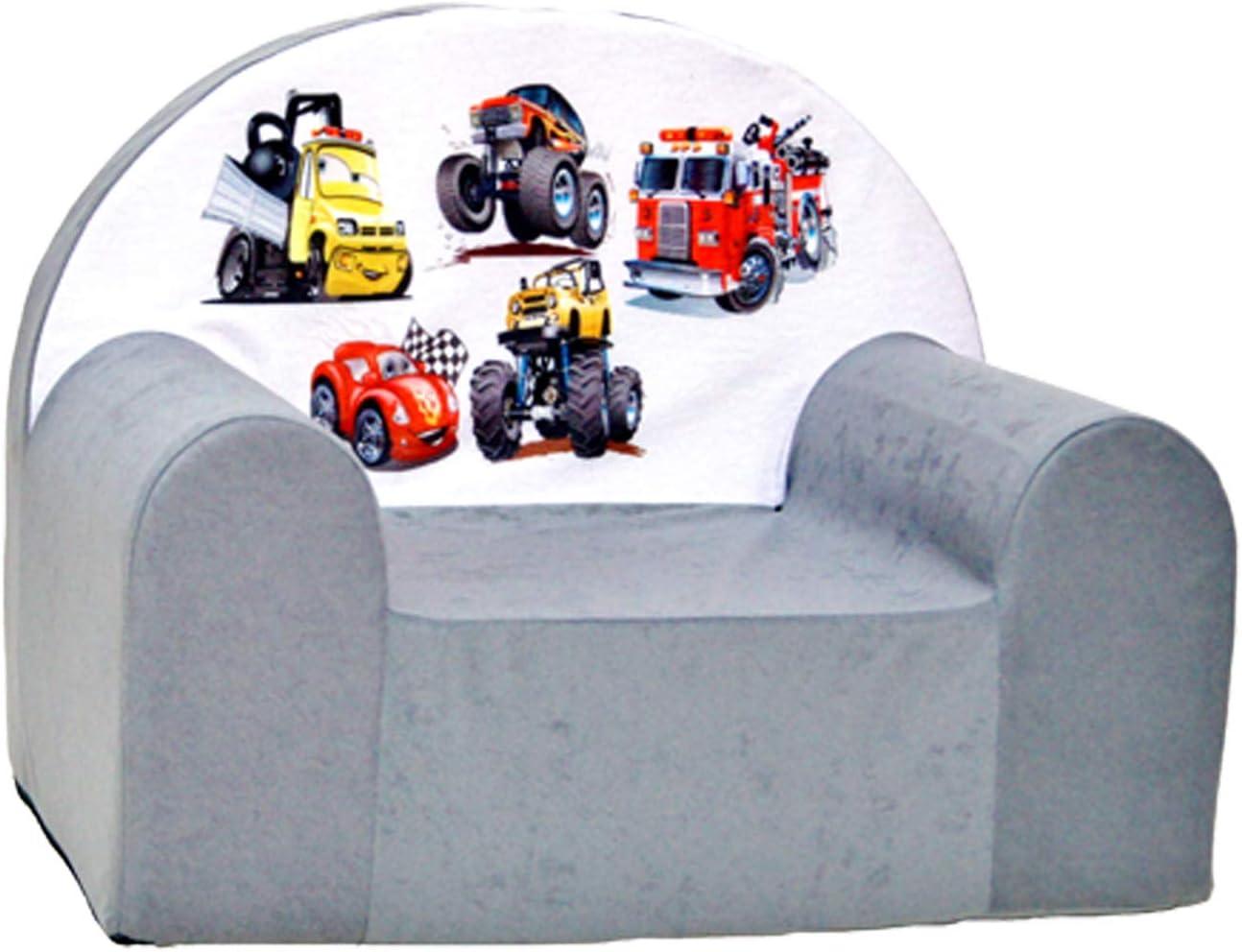 Grau hergestellt aus Baumwolle f/ür Jungen und M/ädchen im Alter von 1 bis 4 Jahre YourSurprise Kindersessel mit Namen Kindersessel personalisiert mit Namen oder Text
