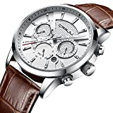 2018 Brand New Men's Sport Leather Strap Wrist Watch with Chronograph and Date Function